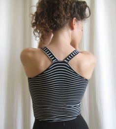 More built-in bra tanks, this one with shoulder elastic (see link to Burda site for complete instructions)