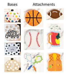 Other options for bases and #sports-themed attachments TODAY, 9/27/13 ONLY…