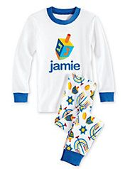 kids personalized dreidel pj's