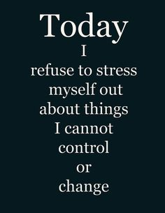 Today I refuse to stress myself out about things.......... #MITMsays…