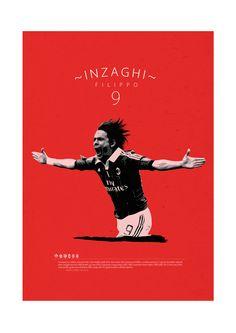 Soccer Legends Poster on Behance : Filippo Inzaghi