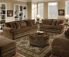 The Amherst Traditional Brown Paisley Chenille Sofa