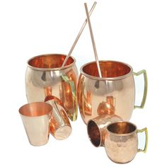 DakshCraft ® Solid Pure Copper Coaktail Moscow Mule Mug (Capacity 17 oz per mug) with Free Beer/Cocktail Copper Shot Mugs (Capacity - 2.46 oz per shot mugs),Wine/Vodka Copper Shot Glasses (Capacity - 2.46 oz per glasses) & Copper Straw, Set of 2, (2 Copper Hammered Mugs, 2 Copper Shot Mugs, 2 Copper Shot Glasses & 2 Copper Straw): Amazon.com: Home & Garden