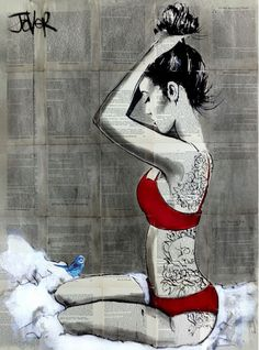 Buy REASON IN RED, Ink drawing by Loui Jover on Artfinder. Discover thousands of other original paintings, prints, sculptures and photography from independent artists.