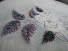 Tutorial for embroidered leaves - ella's craft creations