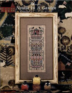 Just Nan: Needle in a Garden  Cross Stitch by TheCrossIBare
