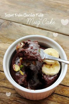 Instant Chocolate Paleo Mug Cake by Michelle Hunt Prep Time: 1 minute Cook Time: 1 minute 30 seconds Keywords: microwave dessert snack glu. Chocolate Fudge Cake, Paleo Chocolate, Chocolate Mugs, Microwave Cake, Microwave Recipes, Sweet Recipes, Cake Recipes, Dessert Recipes, Paleo Mug Cake