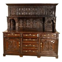 Check out this item at One Kings Lane! Welsh Carved Oak Dresser, C. 1720