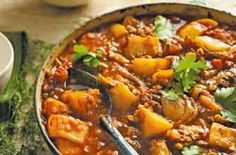 Moroccan red lentil and lamb stew - change out potatoes for cauliflower or winter squash for GAPS
