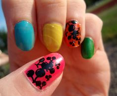 Cherry nails.