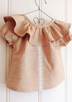 Handmade Linen Baby Toddler Blouse | RunaroundRetro on Etsy