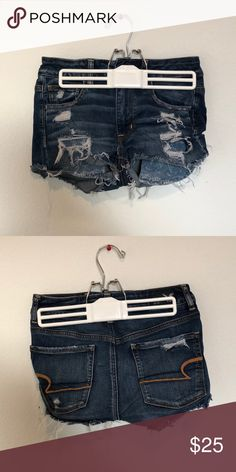 High waisted ripped jean shorts Ripped jean shorts from American Eagle American Eagle Outfitters Shorts Jean Shorts Eagle American, American Eagle Shorts, American Eagle Outfitters Shorts, Ripped Jean Shorts, Denim Shorts, Summer Clothes, Summer Outfits, Cute Shorts, Spring Summer