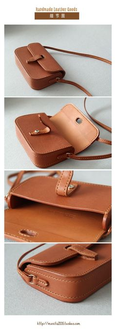 leather handbags and purses Leather Bags Handmade, Handmade Bags, Leather Craft, Soft Leather Handbags, Leather Purses, Leather Wallet, Crea Cuir, Leather Bag Pattern, Leather Projects