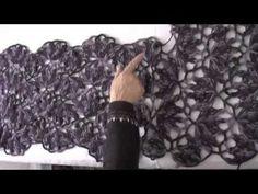 http://www.tejiendoperu.com/ Poncho hecho con 8 tiras tejidas con horquilla!!! Parte 2 de 2