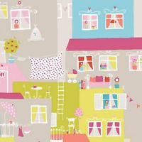 YH17951 - Young at Home Multicoloured Cartoon Houses Wallpaper