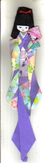 Marcador de páginas em origami - Mamãe
