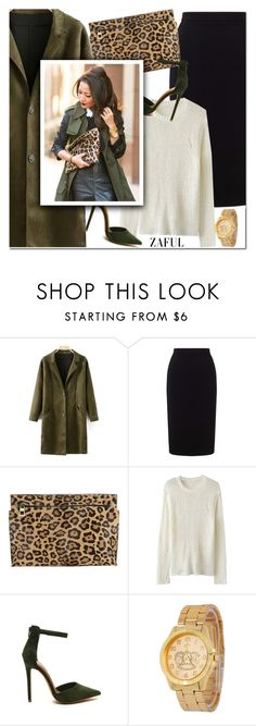 """""""Faux Suede Lapel Coat"""" by aida-nurkovic ❤ liked on Polyvore featuring Roland Mouret and Loewe"""