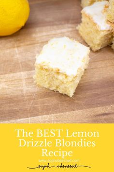 Like all of my recipes, these Best Lemon Drizzle Blondies are of course super easy to make! I'm a mum with a toddler causing havoc 99.9% of the time, so I don't have time for fuss. Be reassured that this recipe requires no crazy patisserie skills or ingredients hard to source and it's almost impossible to get it wrong, so go for it!