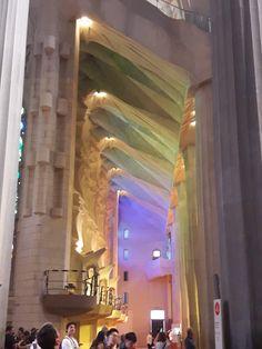 Beautiful light in the Sagrada Familia, Barcelona! Gaudi, Barcelona Spain, Beautiful Lights, Natural Light, Tours, Architecture, Nature, Lighting, Home