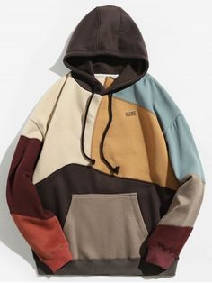 Clothes type hoodies style fashion pattern type color block letter material cotton polyester shirt length regular sleeves length full weight 0 men s hoodies turtleneck type sweatshirt Hoodie Sweatshirts, Fleece Hoodie, Hoody, Hoodie Outfit, Mens Fashion Wear, Fashion Outfits, Style Fashion, Trendy Fashion, Tomboy Outfits