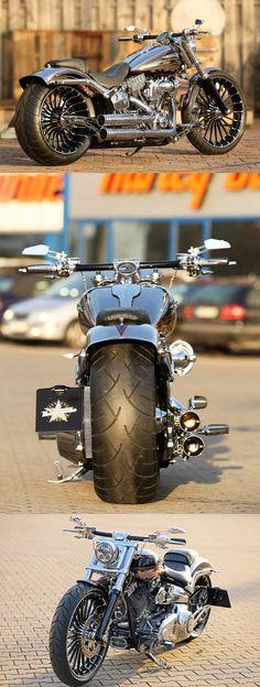 #Harley-Davidson CVO Breakout by Thunderbike with new Pulleybrake-System #harleydavidson2018