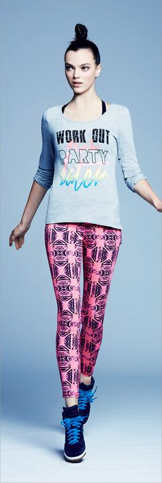 Get pumped for 2016! Now's the time to upgrade your workout and your gear with cool, graphic activewear from Material Girl.