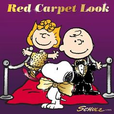 Very elegant look of Snoopy & Friends at Oscars of Los Angeles !