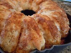 sticky bun breakfast ring (made w/canned biscuits)