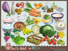After several requests we decided to bring to your sims4 the Funny kitchen series. For the ones which love fruits and vegetables, be happy because it's time to salad ^^ by SIMcredibledesigns.com...