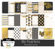 Be Fearless Themed Cards