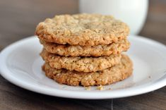 Thin and Crispy Oatmeal Cookies from Mel's Kitchen Cafe. She said these were utterly delicious and are the only thin and crispy cookies she likes.