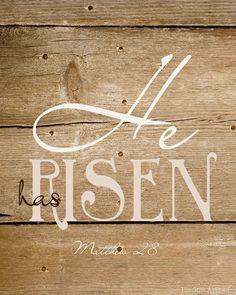 He has Risen Free Printable. #Easter