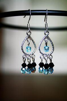 Tiffany Blue Dream Catcher Earrings. $10.00, via Etsy.