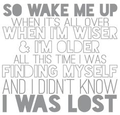 """""""Wake me up"""" by AVICII and Aloe Blacc ...this song makes more sense then most pop songs out there"""