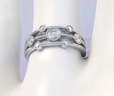0.47 Carat Raindrop 7 Stone Diamond Ring
