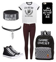 """FOB (SWS)"" by durienne ❤ liked on Polyvore featuring Converse and Vans"