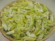 Chinakohlsalat mit süß - saurem Joghurtdressing