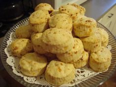 Cheddar Cheese Biscuits made with heavy cream - they sound delicious!