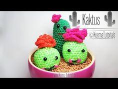 Ami-Loomigurumi Kaktus - für Anfänger (ENGLISH SUBTITLES) - Barrel Cactus with flower - YouTube