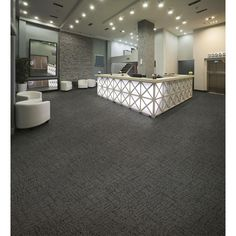Shop Kraus 20 Pack 19 625 In X 19 625 In Charcoal Smoke Textured Glue Down Carpet Tile At Lowes Com Carpet Tiles Commercial Carpet Tiles Commercial Carpet