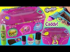 DIY SHOPKINS Makeup & Toy Caboodle! Decorate with DohVinci! Nail Polish & Lip Gloss! FUN - YouTube