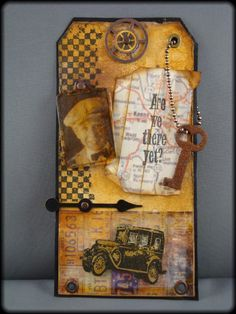 Are We There Yet? - Scrapbook.com #tag #scrapbooking This is a beautiful tag.