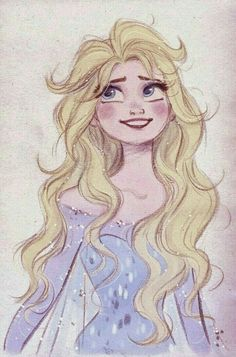 I always wished Elsa's hair had come down like this during her transformation and in the process her hair is braided instead of the way it happened in the movie.