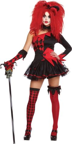 Adult Sexy Jester Costume - Party City