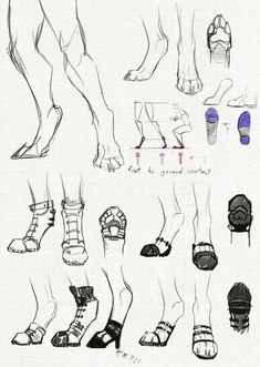 I often draw my anthros with a mix between digitigrade legs and human legs, but I never really focused that much on the specifics, since every character. Shoes for people on the digitigrade spectrum Feet Drawing, Furry Drawing, Drawing Base, Creature Drawings, Animal Drawings, Art Drawings, Drawing Reference Poses, Leg Reference, Digital Art Tutorial