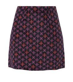 Black Pattern (Black) Black Tile Print A-Line Mini Skirt A Line Mini Skirt, A Line Skirts, Mini Skirts, Teen Guy Fashion, Black Tiles, Black Pattern, Flare Skirt, Get Dressed, New Look