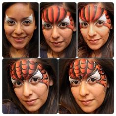 A Quick One-Stroke Spider-Man facepaint / spiderman schmink gepind door www.hierishetfeest.com