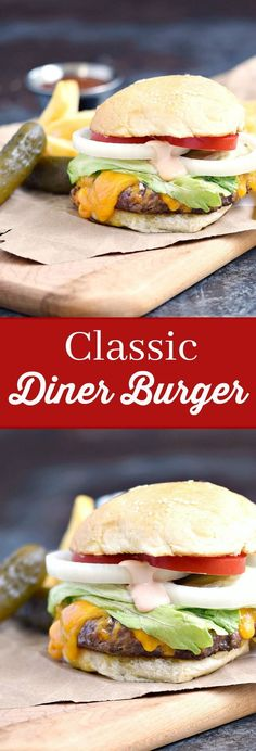A Classic Diner Burger is guaranteed to bring back fond memories of a bye gone era, and a way to share those memories with the next generation | cookingwithcurls.com