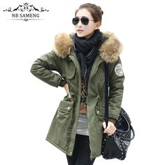 51.80$  Buy here - http://alin6r.worldwells.pw/go.php?t=32719009590 - 2017 New Women Long Camouflage Faux Fur Coat With Hood Winter Jacket Thicken Solid Female Military Parka Abrigos Plus Size 51.80$