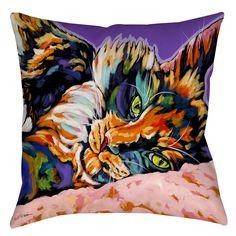 Calico Dreams Printed Throw Pillow